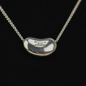 TIFFANY & CO Sterling Grande Bean Necklace (uv)